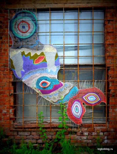 Yarn bombing, yarnbombing, вязание для улиц