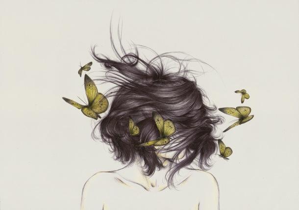 легкость бытия, бабочки в волосах
